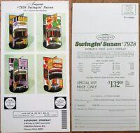 Oversized Chrome Advertising 1960s Postcard: Art Supply Counter Merchandiser