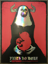 FAITH NO MORE / REFUSED poster Atlanta 2015 by Godmachine FOIL VARIANT of 20