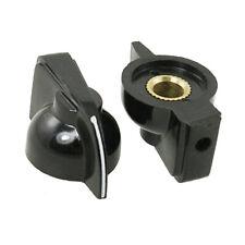 10 Pcs 6mm Shaft Hole Dia Potentiometer Pot Pointer Knobs Caps