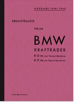 BMW R 12 17 Ersatzteilliste Ersatzteilkatalog R12 R17 Spare Parts Catalogue List