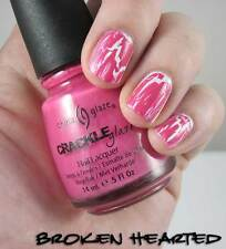 NEW! China Glaze nail polish lacquer in BROKEN HEARTED ~ PINK CRACKLE TOP