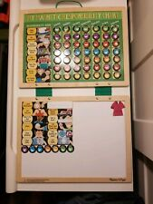 Melissa Doug Deluxe Wooden Magnetic Responsibility Chore Chart With 77 Magnets