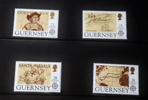 """Guernsey Stamps: """"Discovery- America 500th Anniversary"""" - Presentation Pack 1992"""