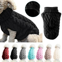 Pet Cat Dog Warm Jumper knitted Sweater Clothes Jacket XMAS Costume Coat Apparel