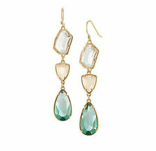 Women Brand chandeliers Blue crystal Style Dot Party Drop Earrings
