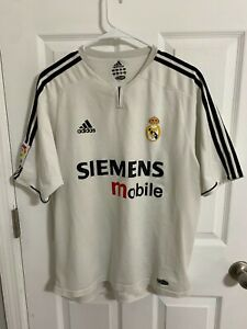 2003/04 Real Madrid Player issue Zidane jersey French shirt