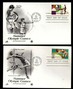 """United States Scott #2049-50 """" 1ST Day Of Issue-Summer Olympics"""" July 28,1983"""