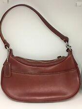 Coach Zoe 9593 Small Crescent Leather Hobo Burgundy Red Handbag