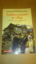 Rabbins et savants au village - Jean Baumgarten & Céline Trautmann-Waller