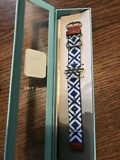 TOMS Apple Watch Band In Box 38mm Blue Woven