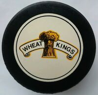 WHEAT KINGS WHL OFFICIAL GAME PUCK INGLASCO MFG. CANADA HOCKEY VINTAGE