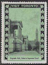 Canada Poster stamp: 1939 Visit Toronto, Osgoode Hall, Supreme Court,ON - dw629b