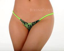 SEXY SKIMPY MARIJUANA WEED 420 PRINT MICRO THONG BIKINI BOTTOM! NEW! MADE IN USA