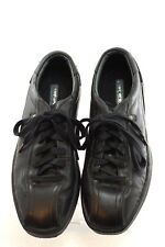 MARC ECKO Unlimited  Black Leather Fashion Sneakers Athletic Shoes Men Sz 9.5