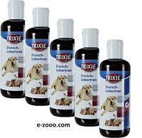 5 Pcs Trixie COD Liver Oil, Dog/Cat 250 Ml, 5 x 250 Ml Value Pack