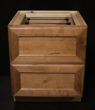 """Kraftmaid Honey Spice Desk File Or Bathroom Vanity Sink Cabinet 24"""""""