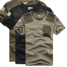 Summer Men Short Sleeve Sport T-shirt U.S Army Style Outdoor Running Fitness Tee