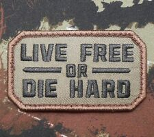LIVE FREE OR DIE HARD ARMY US BADGE FOREST VELCRO® BRAND FASTENER PATCH