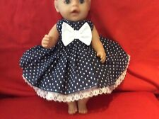 "17"" Dolls Clothes fits Baby Born Or Similar Size Doll."