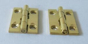 10 X SOLID BRASS HINGE 25 X 16mm