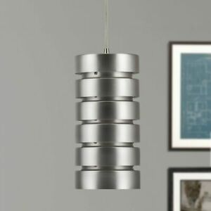 Linea LL-P518 Light Fixture Macchione Modern Industrial Pendant Brushed Steel