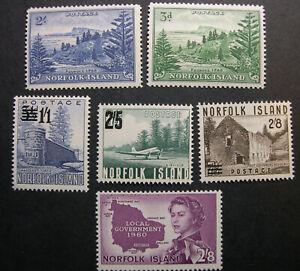 Norfolk Island 23-24, 26-28, 42 MNH CV $60 BX