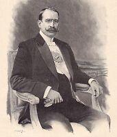 Portrait José Figueroa Alcorta Argentine Présidente de la Nación Argentina