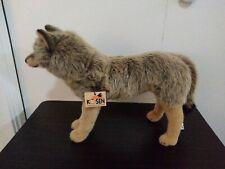 Wolf by Kosen / Kösen - standing - exquisite plush collectors soft toy - 3840