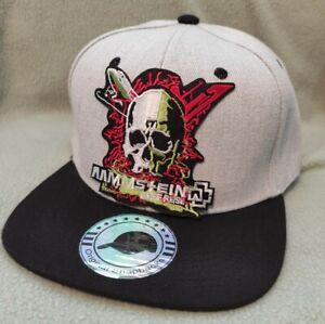 Rammstein Snapback Heather Gray Black Flat Bill Ball Cap Rammstein Hat