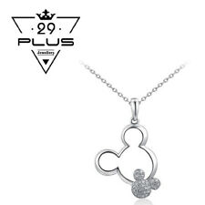 Cute 18K White Gold Filled Mickey Mouse Crystal Fashion Pendant Necklace Gift AU