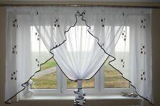 neuf prêt à l'em Ploi Fenêtre Rideau Voile filet 150 x 400 cm marron AG24