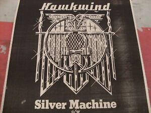 "HAWKWIND ""Silver Machine"" 1978 Original MM ADVERT/POSTER Rare Space Rock Classic"