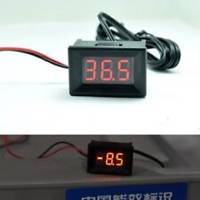 12V 24v LED Display Digital Temperature Meter -40°C~+ 120°C Thermometer Sensor