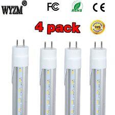4 Pack 4 Foot 22W T8 LED Shop Light Tube G13 Bulbs Single-End Power 4500K Clear
