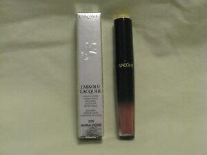 Lancome L'Absolu Lacquer Longwear Lip Color #306 Infra-Rose Full Sz NIB
