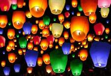 50 Mix Color Paper Chinese Sky Lanterns For Wedding, Wishing, Anniversary