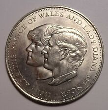 1981 Great Britain Crown coin, Lady Diana, Commemorative Uk, Unc