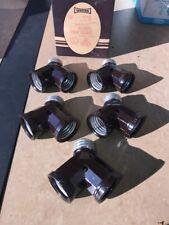 5- VINTAGE Bakelite NOS Leviton #128 PLUG IN DOUBLE LIGHT SOCKETS LAMP 600W 250V