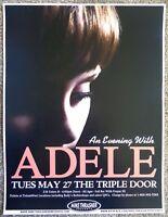 ADELE ( Laurie Blue Adkins) Gig 2008 POSTER Seattle Washington Concert