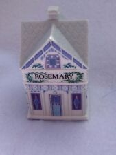 Vintage 1989 Lenox Spice Village Rosemary Cottage Porcelain Spice Jar 21957