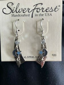 Silver Forest  NEW IN PACKAGE  Surgical Steel Silver tone earrings