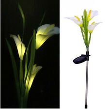 3 LED Solar Powered Lily Flower Stake Garden Yard Light Outdoor Landscape Decor
