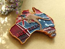 Australien Karte Känguru Reiseandenken 3D Kühlschrankmagnet Souvenir Magnet