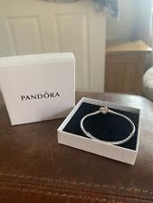 Pandora - Silver Bangle And Rose Gold Heart