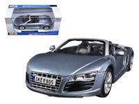 1/24 Maisto Audi R8 Spyder Light Blue Diecast Model Car Blue 31204