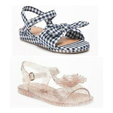 NEW Lot x 2  Old Navy  Bow Tie Mini Wedge Sandals + Jelly Sandal Baby Girls Sz 5