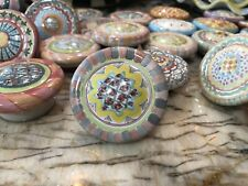 New Listing1 Mackenzie-Childs Handpainted Pottery Drawer Pulls/Knobs Majolica Rose Cottage