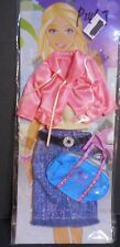 Doll Clothes for Barbie Pink Jacket Blouse Skirt And Purse Set