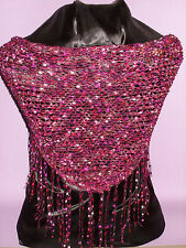 Dressy Shawlette - Red/ Pink - Shawl - Perfect for Parties and the Holidays!