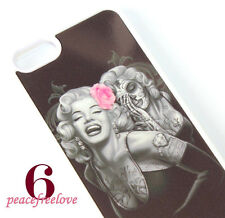 for iPhone 6 / 6S - Marilyn Monroe Pink Rose Skull Hard TPU Rubber Gummy Case
